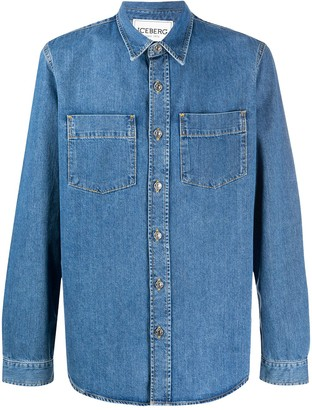 Iceberg Denim Long Sleeve Shirt
