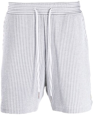 Thom Browne Striped Seersucker Shorts