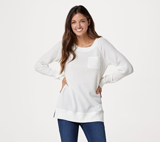 Belle By Kim Gravel One Pocket Waffle Top