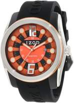 Izod Men's IZS1/3 BLK/ORANGE Sport Quartz 3 Hand Watch