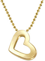 Alex Woo Heart Pendant Necklace in 14k Gold