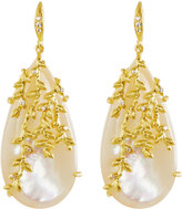 Indulgems Willow Simulated Mother-of-Pearl Dangle Earrings