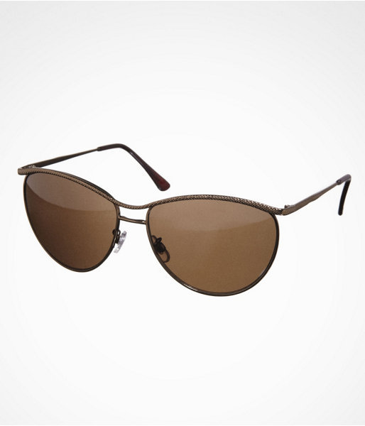 Express Curved Textured Aviator Sunglasses