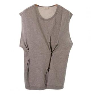 Dries Van Noten Grey Cotton Knitwear