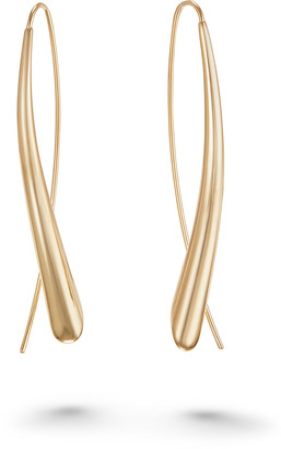 Lana Uptown Large Narrow Upside Down Hoop Earrings