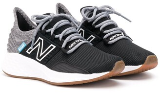 New Balance Ribbed Lace-Up Sneakers