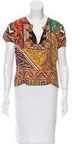 Etro Paisley Print Silk Top