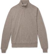 Canali Merino Wool Half-zip Sweater - Beige