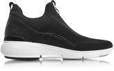 Michael Kors Ace Black Fabric Slip On Sneaker
