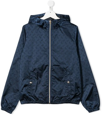 Herno TEEN monogram print jacket