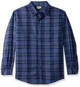 Haggar Men's Long Sleeve Microfiber Woven Shirt