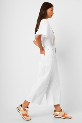 French Connection Reem Denim High Waisted Culottes