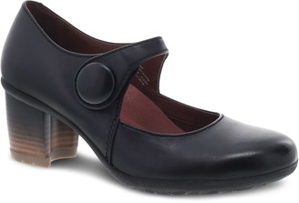 Dansko Stacked Heel Waterproof Leather Mary Janes - Page