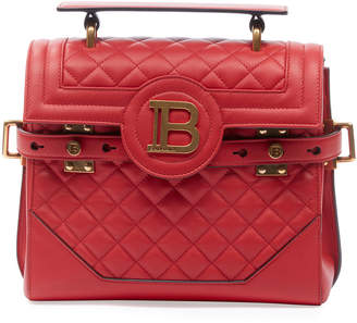 Balmain BBuzz 23 Quilted Calf Leather Shoulder Bag