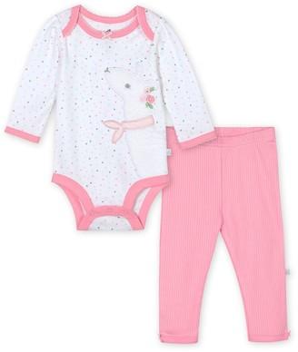 Just Born Baby Girl Lil' Llama 2-Piece Organic Bodysuit & Pant Set