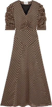 Antik Batik Doty Ruched Fil Coupe Chiffon Maxi Dress
