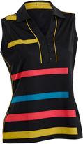 Asstd National Brand Blast Sleeveless Plus Sleeveless Animal Knit Polo Shirt Plus