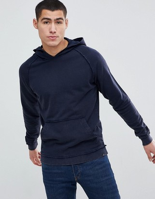 Jack and Jones Originals Acid Wash Hoodie-Navy