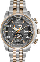 Citizen Eco-Drive World Time A-T Mens Two-Tone Watch AT9016-56H