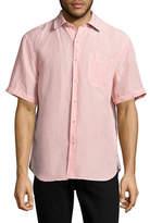 Tommy Bahama Sand Short Sleeve Linen-Blend Check Shirt