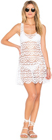 Pilyq Island Lace Dress in White. - size M/L (also in )