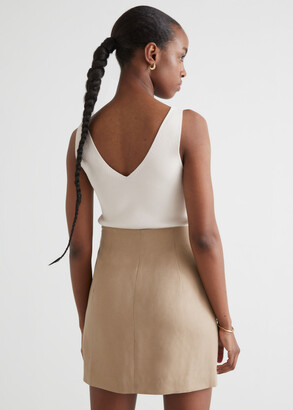 And other stories Fitted Buttoned Mini Skirt