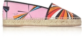 Emilio Pucci Multicolor Printed Cotton and Leather Espadrilles