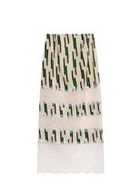 Wes Gordon Lace-panelled crepe midi skirt