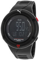 Puma PU911291001 Men's Optical Cardiac Digital Black Silicone Grey Dial