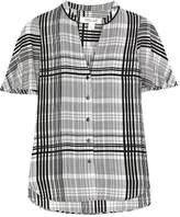 Diane von Furstenberg Darnley plaid silk blouse
