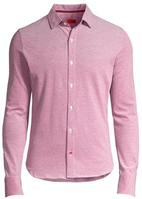 Isaia Long-Sleeve Piquet Wash Polo Shirt