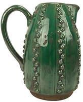 One Kings Lane Vintage Emerald Green Decorative Pitcher