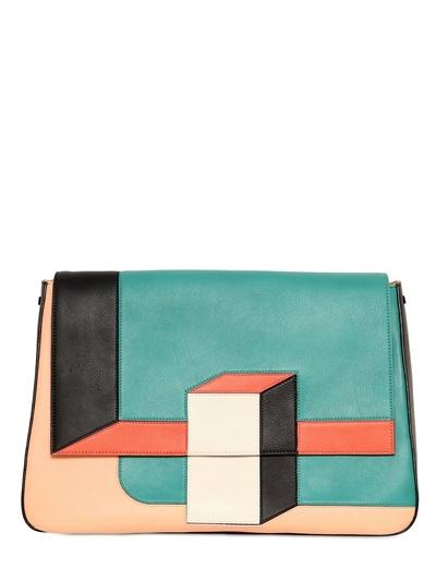 Fendi Big Mama Color Blocked Shoulder Bag
