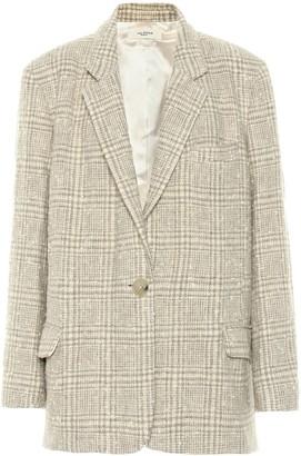 Etoile Isabel Marant Korix checked wool-blend jacket