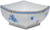 Herend Chinese Bouquet Blue Large Square Bowl