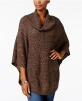 Karen Scott Cable-Knit Poncho Sweater, Created for Macy's