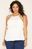 Forever 21 FOREVER 21+ Plus Size Embroidered Lace Top