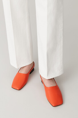 Cos Square Toe Leather Mules