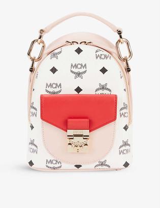 MCM Patricia leather mini backpack