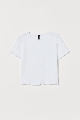 H&M Short T-shirt - White