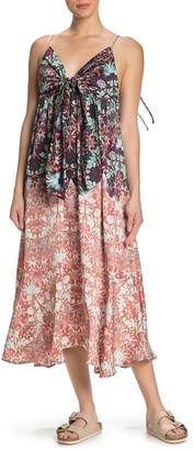 Free People Sun Bleached Tie Front Midi Dress