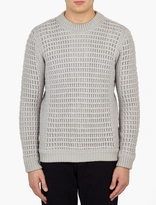 S.N.S. Herning Grey Box-Knit Sweater