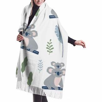 Yinyinyin.Womens Scarf Australian Funny Koala Bear Womens Scarf Large Soft Silky Pashmina Cashmere Shawl Wrap 68 X 196 Cm