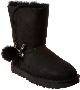 UGG Women's Classic Short Charm Suede Boot