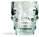 Kikkerland Skull Shot Glass Set of 4, Transparent