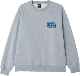 Obey Logo Heathered Cotton-Blend Sweatshirt