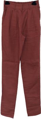 Isabel Marant Orange Linen Trousers