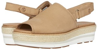 Timberland Emerson Point Sandal (Light Brown Full Grain Leather) Women's Shoes