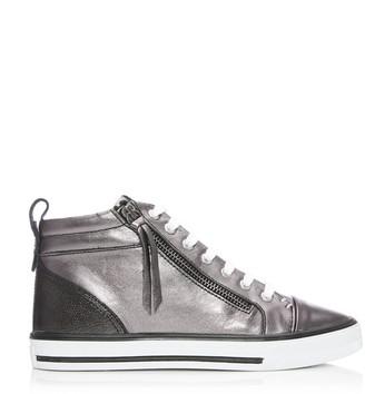 Moda In Pelle Estarni Pewter Leather