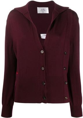 Victoria Victoria Beckham Button-Embellished Cardigan